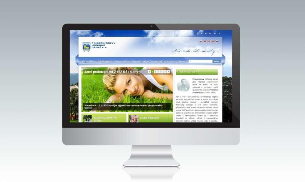 Internetový portál pro Priessnitzovy léčebné lázně