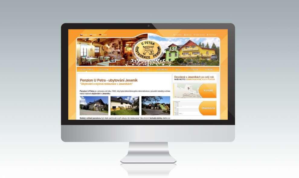 Webové stránky pro Penzion UPetra