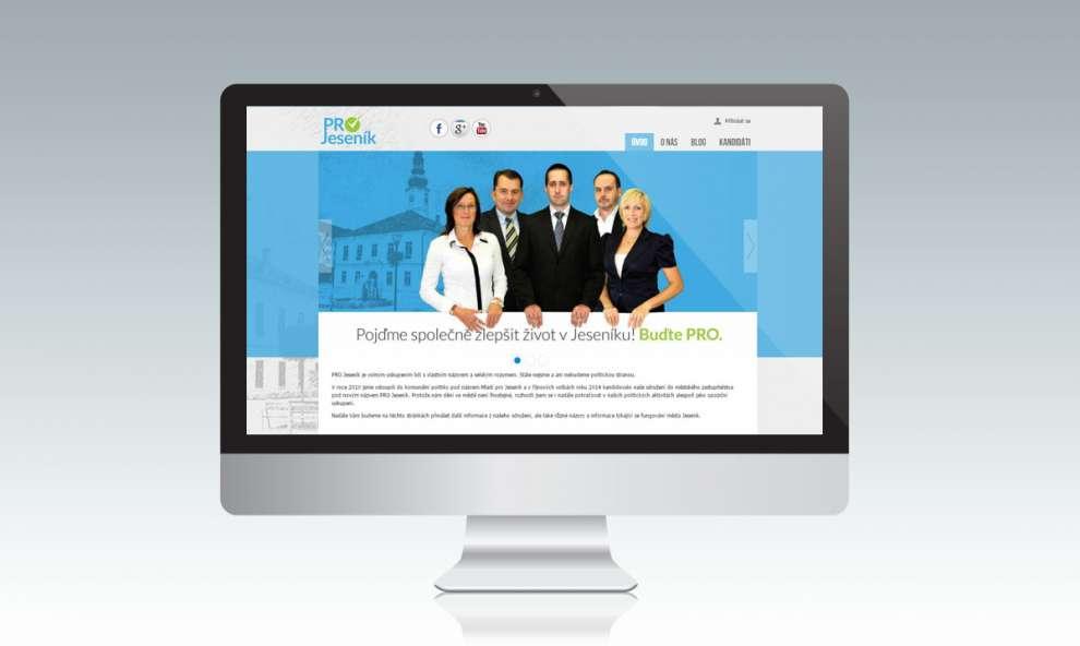 Webové stránky politické strany Pro Jeseník