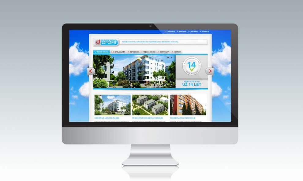 Webové stránky pro firmu D-Profil