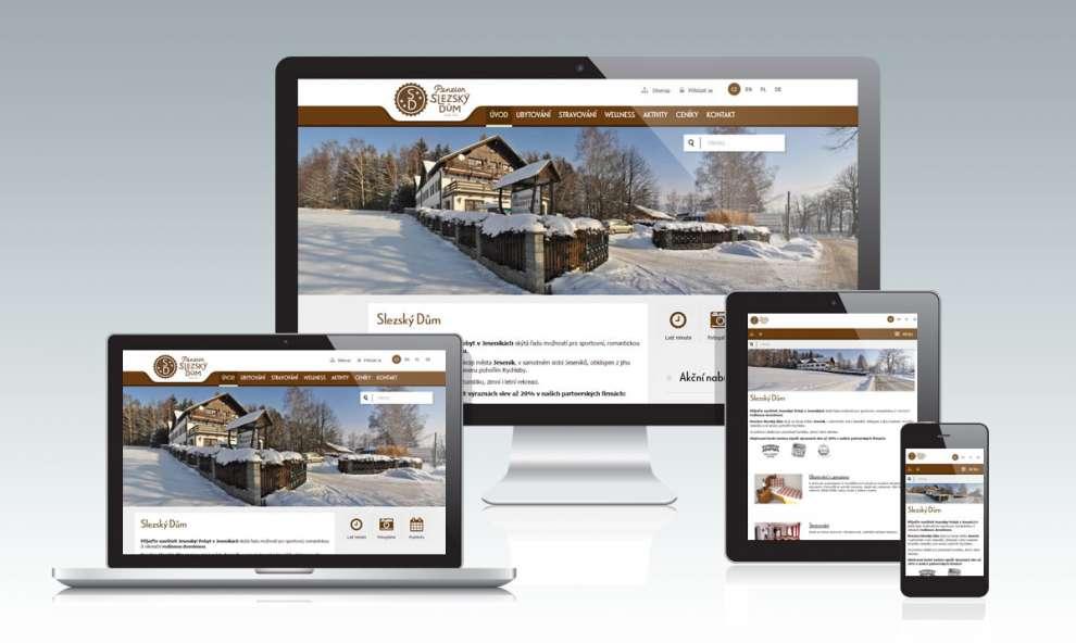 Internetové stránky pro penzion Slezský dům